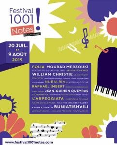 Festival 1001 Notes 2019:  10 concerts événements