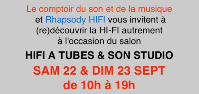 Salon Hifi à Tubes & Son Studio