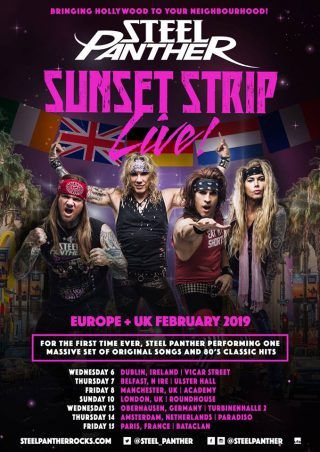Steel Panther revient à Paris