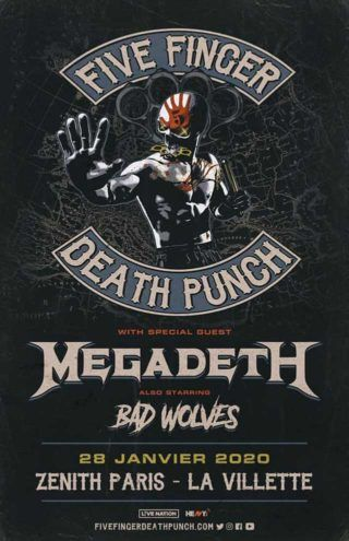 Five Finger Death Punch / Megadeth / Bad Wolves:  les détails