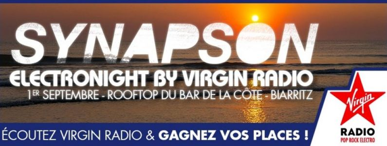 Electronight by Virgin Radio:  Synapson en live au Rooftop du Bar de la Côte à Biarritz le 1er septembre !