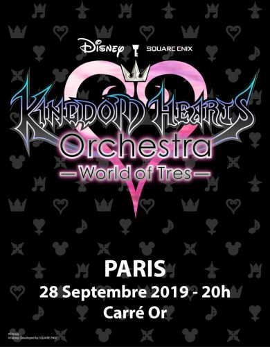 "Le concert ""KINGDOM HEARTS Orchestra -World of Tres"" arrive à Paris le 28 septembre"