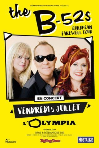 The B-52's bombardent la France avec deux dates