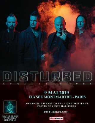 Disturbed de retour à Paris