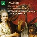 Ton Koopman:  Mozart: concertos for flute and harp, oboe and bassoon